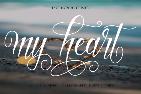 Print on Demand: My Heart Script & Handwritten Font By faisal_Alfaraby - Image 1