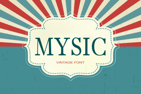 Print on Demand: Mysic Serif Font By maxim.90.ivanov