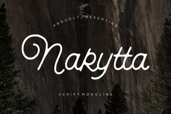 Print on Demand: Nakytta Script & Handwritten Font By CreatypeStudio - Image 1