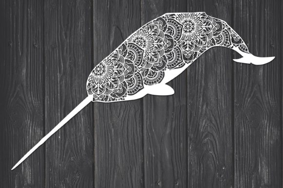Narwhal Mandala Graphic Print Templates By Fortuna Prints