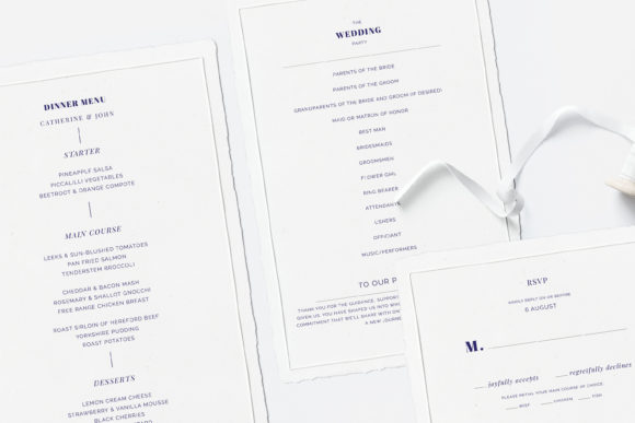 Print on Demand: Navy Wedding Template Suite Graphic Print Templates By Primafox Design - Image 3