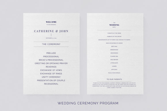 Print on Demand: Navy Wedding Template Suite Graphic Print Templates By Primafox Design - Image 6