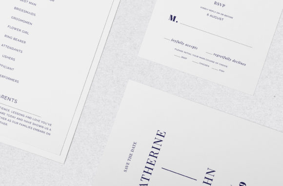 Print on Demand: Navy Wedding Template Suite Graphic Print Templates By Primafox Design - Image 10