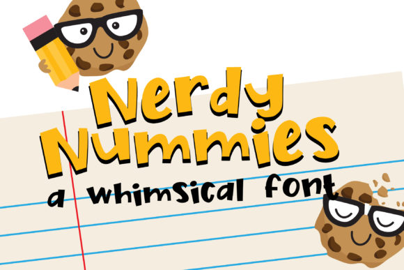 Nerdy Nummies Font By Illustration Ink Image 1