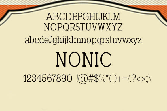 Print on Demand: Nonic Serif Font By maxim.90.ivanov - Image 2