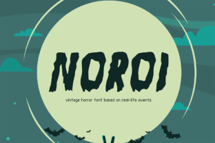 Noroi Display Font By letterlogy