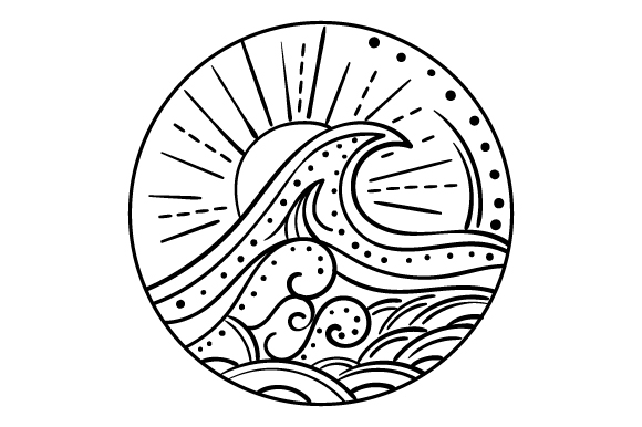 Download Free Ocean Wave Mandala Style Svg Cut File By Creative Fabrica for Cricut Explore, Silhouette and other cutting machines.