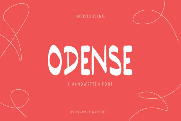 Print on Demand: Odense Script & Handwritten Font By nirmala.graphics
