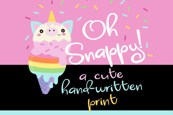 Print on Demand: Oh Snappy! Script & Handwritten Font By Illustration Ink