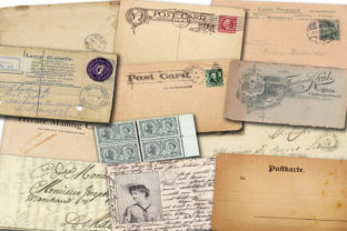 Print on Demand: Old Post Cards Graphic Illustrations By retrowalldecor