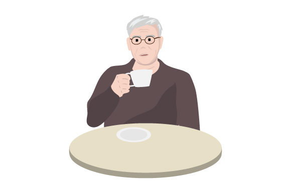 Download Free Old Man Drinking Tea Svg Cut File By Creative Fabrica Crafts for Cricut Explore, Silhouette and other cutting machines.