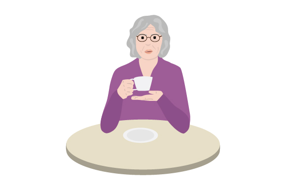 Download Free Old Woman Drinking Tea Svg Cut File By Creative Fabrica Crafts SVG Cut Files