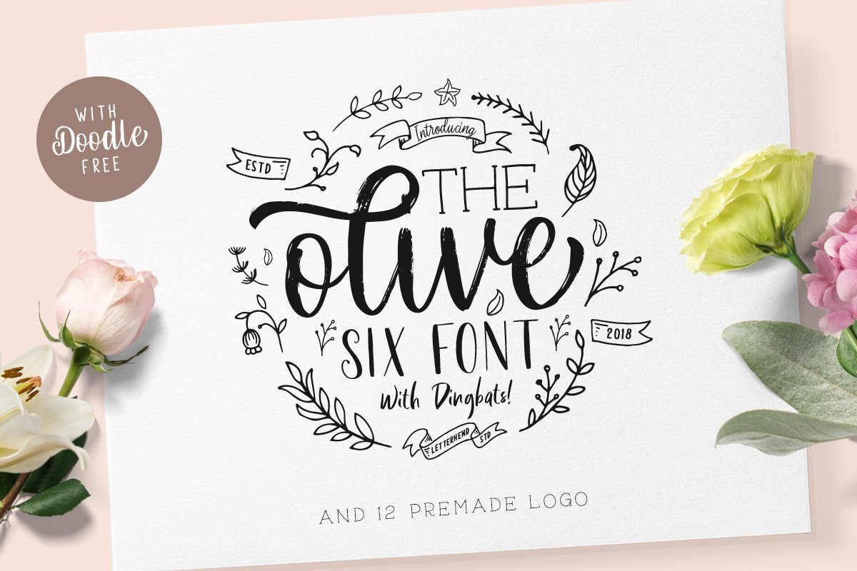 Download Free Olive Font By Letterhend Creative Fabrica for Cricut Explore, Silhouette and other cutting machines.