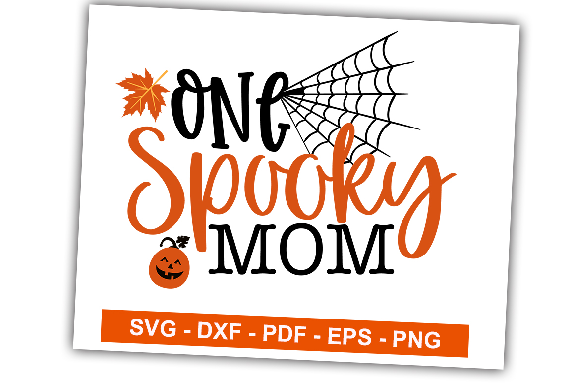 Download Free One Spooky Mom Graphic By Svgbundle Net Creative Fabrica for Cricut Explore, Silhouette and other cutting machines.