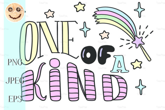 One of a Kind Lettering and Magic Wand Graphic By TasiPas