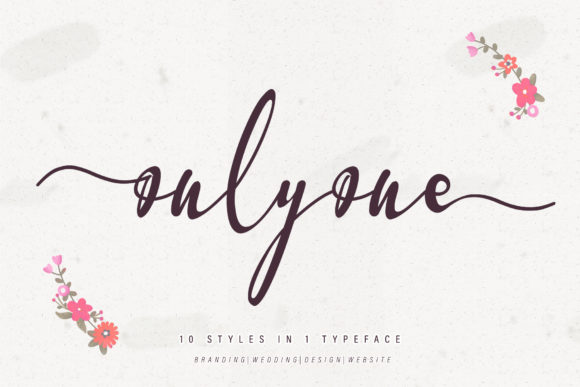 Print on Demand: Onlyone Script & Handwritten Font By thomasaradea