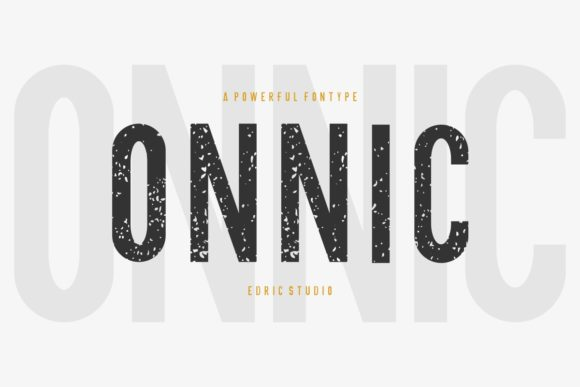 Print on Demand: Onnic Sans Serif Font By EdricStudio - Image 2