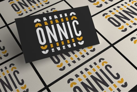 Print on Demand: Onnic Sans Serif Font By EdricStudio - Image 11