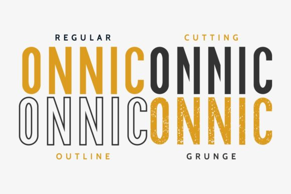 Print on Demand: Onnic Sans Serif Font By EdricStudio - Image 4