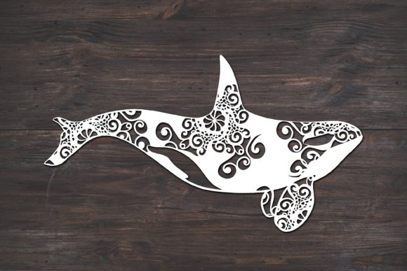 Orca Whale Mandala Graphic Print Templates By Fortuna Prints