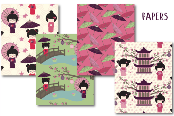 Oriental Paper Graphic By poppymoondesign Image 2