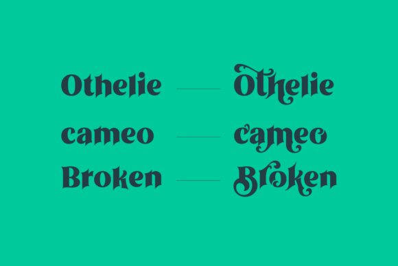 Print on Demand: Othelie Display Font By creativemedialab - Image 9