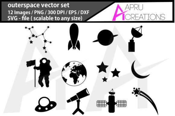 Print on Demand: Outer Space - Universe Graphics Graphic Crafts By aparnastjp