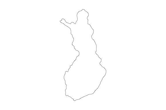 Download Free Outline Of Finland Graphic By Marco Livolsi2014 Creative Fabrica for Cricut Explore, Silhouette and other cutting machines.