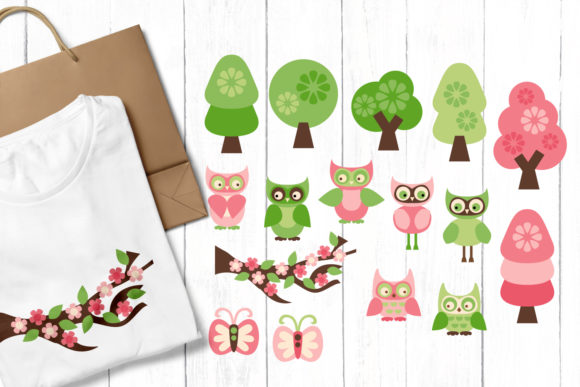 Owls and Trees Graphic By Revidevi