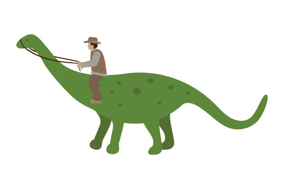 Download Free Paleontologist Riding Dinosaur Svg Cut File By Creative Fabrica for Cricut Explore, Silhouette and other cutting machines.
