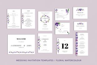 Pansies Wedding Invitation Suite Graphic By Primafox Design