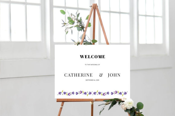 Print on Demand: Pansies Wedding Invitation Suite Graphic Print Templates By Primafox Design - Image 6