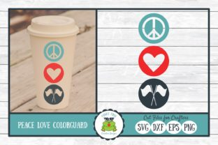 Peace Love Color Guard Graphic By funkyfrogcreativedesigns