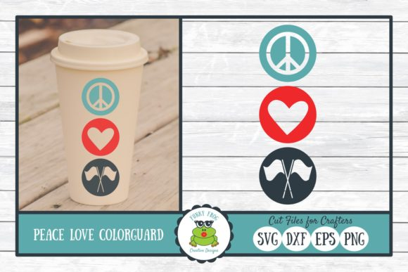 Download Free Peace Love Color Guard Graphic By Funkyfrogcreativedesigns SVG Cut Files