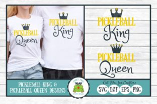 Download Free Pickleball King And Pickleball Queen Graphic By SVG Cut Files