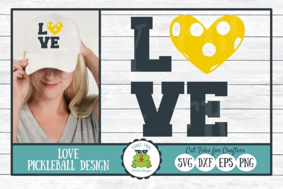Download Free Pickleball Love Graphic By Funkyfrogcreativedesigns Creative for Cricut Explore, Silhouette and other cutting machines.