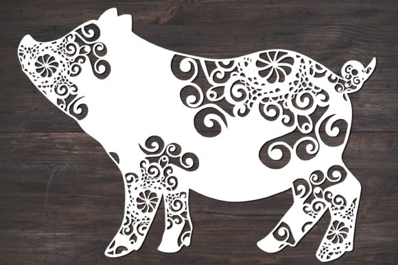 Pig Mandala Graphic Print Templates By Fortuna Prints
