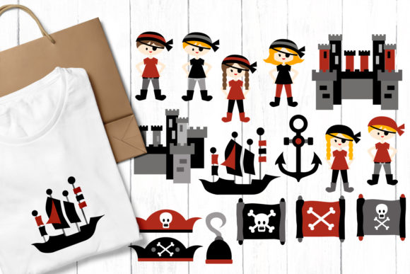 Print on Demand: Pirates Graphic Illustrations By Revidevi