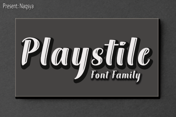 Print on Demand: Playstile Sans Serif Font By Naqsya.Co