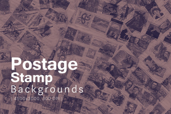 Print on Demand: Postage Stamp Backgrounds Graphic Backgrounds By freezerondigital