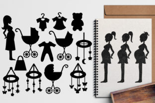 Pregnant Woman Silhouette Graphic By Revidevi