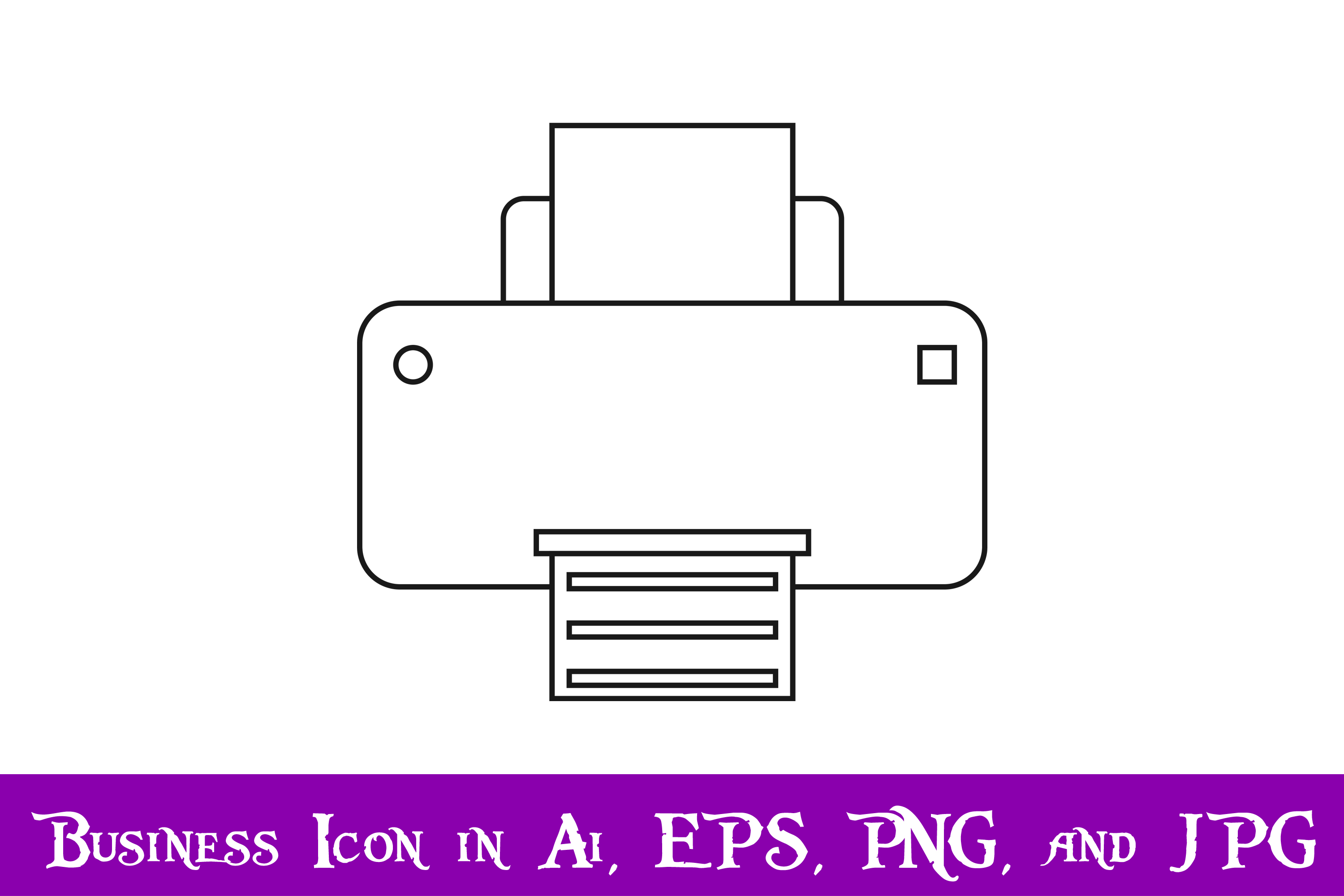 Download Free Printer Icon Graphic By Purplespoonpirates Creative Fabrica for Cricut Explore, Silhouette and other cutting machines.