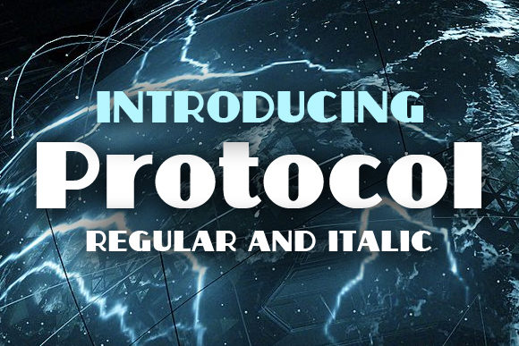 Print on Demand: Protocol Display Font By vladimirnikolic