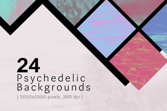 Print on Demand: Psychedelic Backgrounds Graphic Backgrounds By freezerondigital