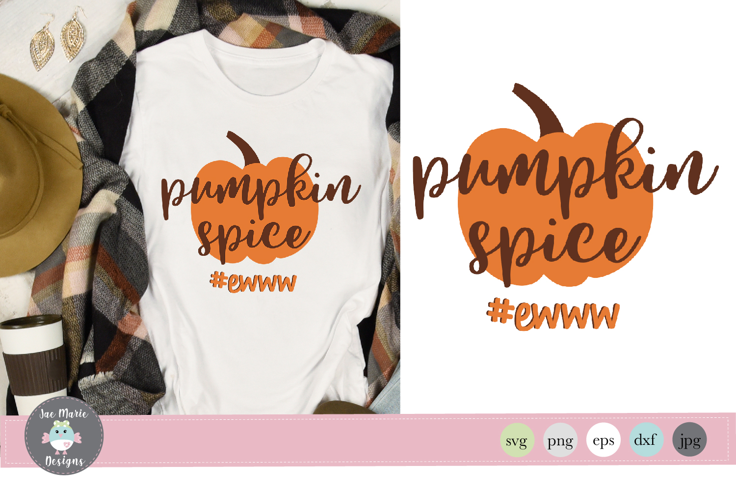 Download Free Pumpkin Spice Ewww Svg Funny Fall Svg Graphic By Thejaemarie for Cricut Explore, Silhouette and other cutting machines.