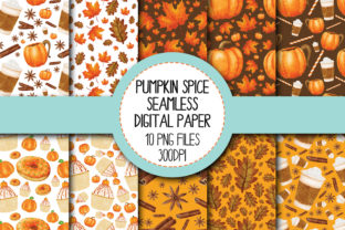 Pumpkin Spice Seamless Digital Paper Graphic By The_Laughing_Sloth_Digital