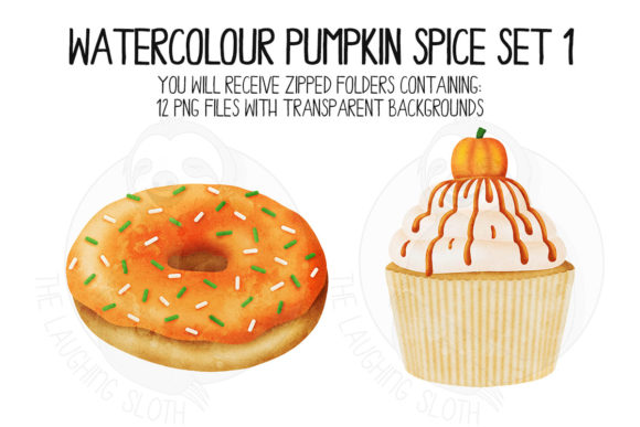Pumpkin Spice Set 1 Graphic Illustrations By The_Laughing_Sloth_Digital - Image 2