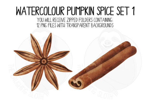 Pumpkin Spice Set 1 Graphic Illustrations By The_Laughing_Sloth_Digital - Image 3