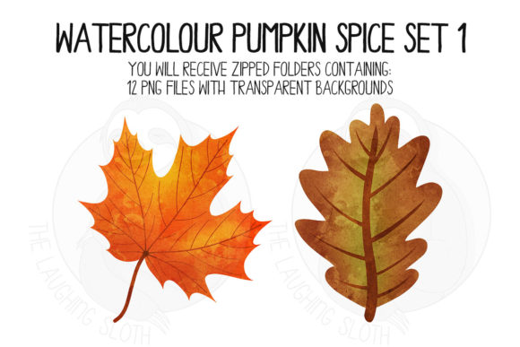 Pumpkin Spice Set 1 Graphic Illustrations By The_Laughing_Sloth_Digital - Image 4