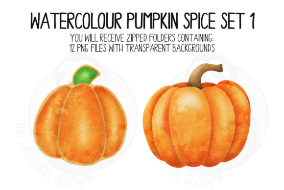 Pumpkin Spice Set 1 Graphic Illustrations By The_Laughing_Sloth_Digital - Image 5